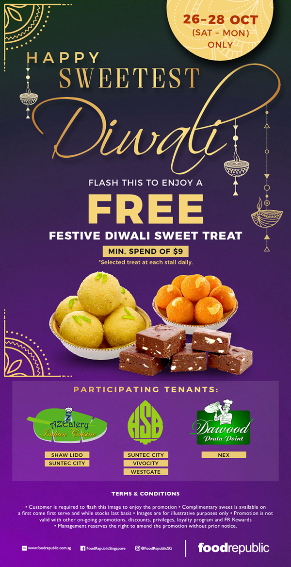Happy Diwali, let there be light and FREE sweets!
